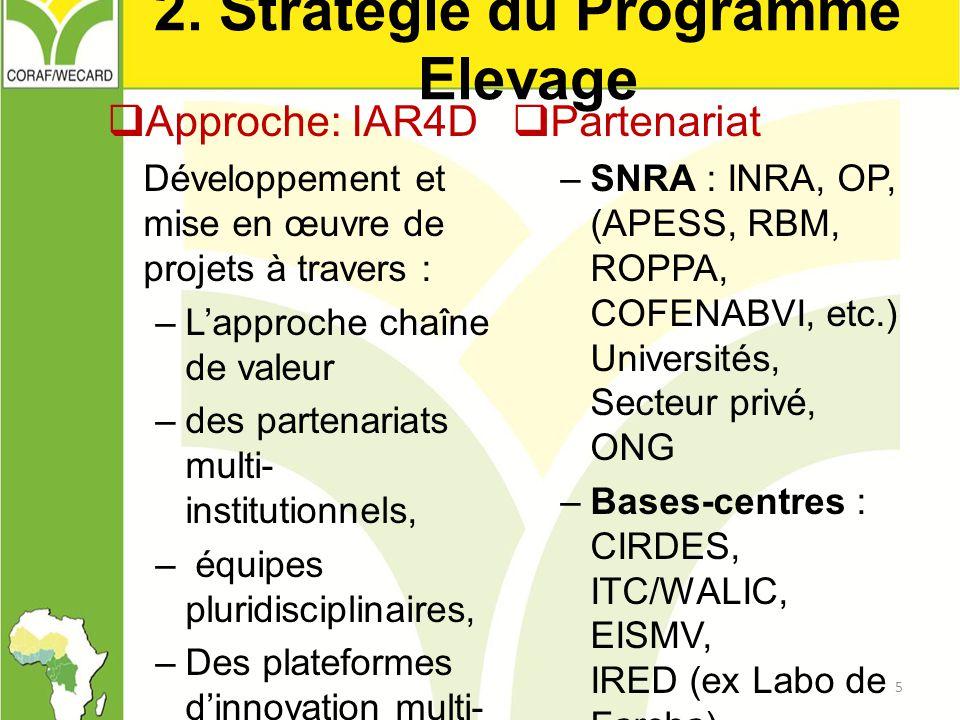 2. Stratégie du Programme Elevage