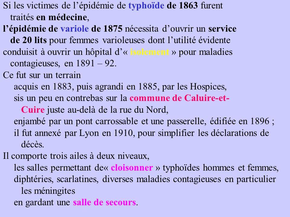 Si les victimes de l'épidémie de typhoïde de 1863 furent