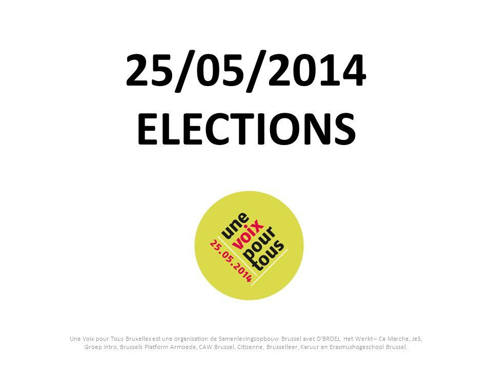 25/05/2014 ELECTIONS Une Voix pour Tous