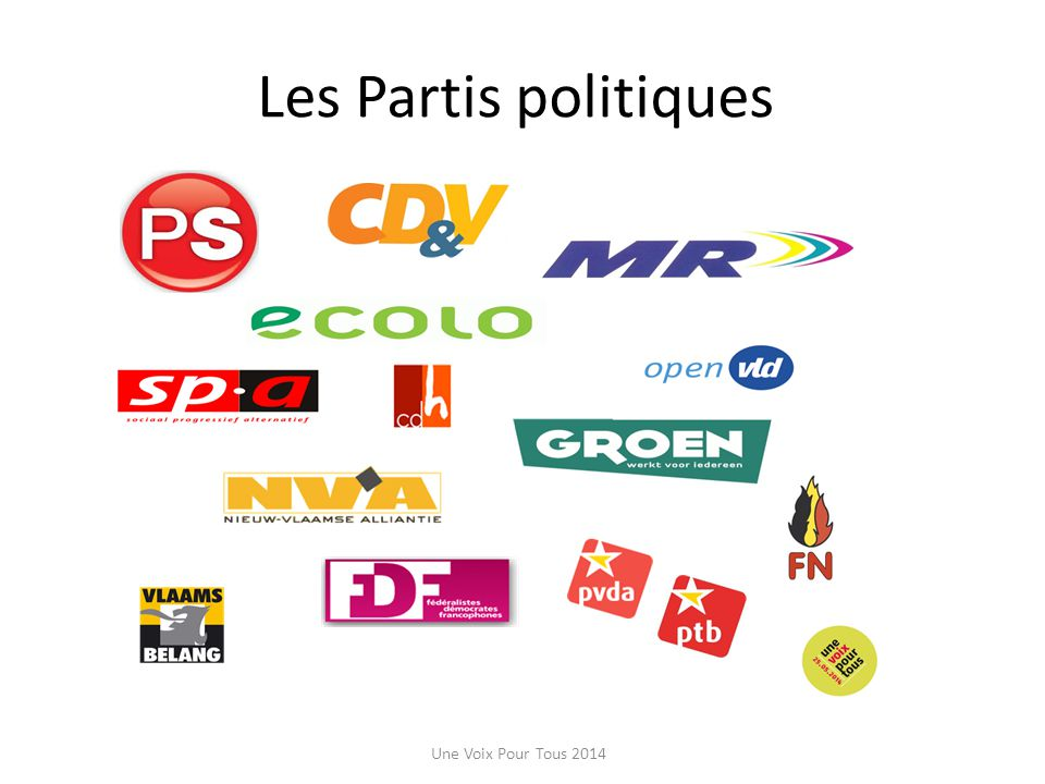 Les Partis politiques Une Voix Pour Tous 2014