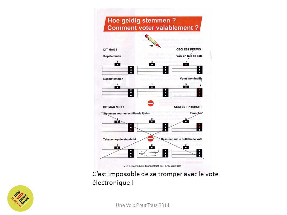 C'est impossible de se tromper avec le vote électronique !