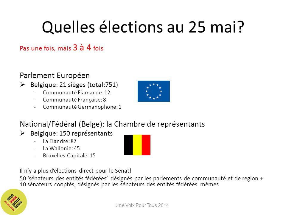 Quelles élections au 25 mai