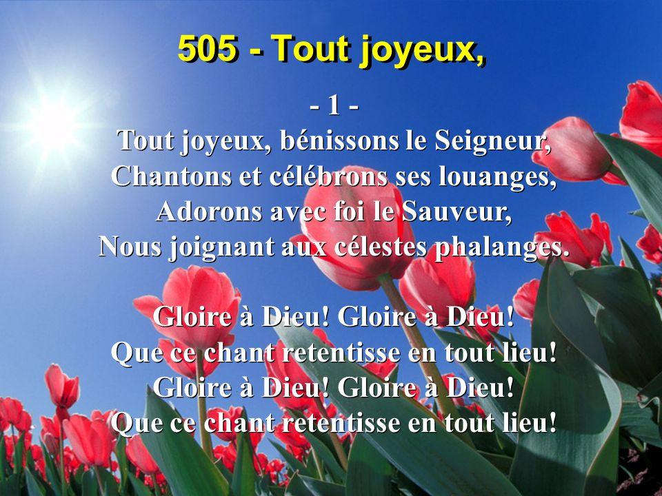 505 - Tout joyeux, - 1 -