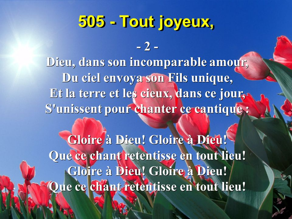 505 - Tout joyeux, - 2 -
