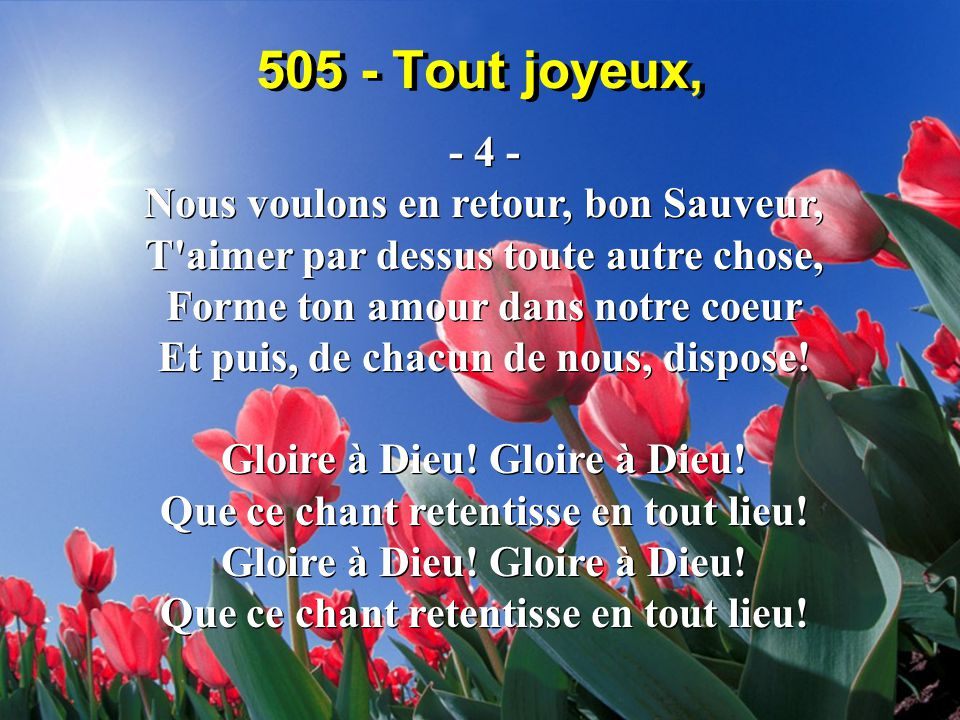 505 - Tout joyeux, - 4 -