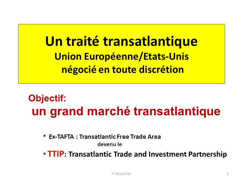 Un traité transatlantique Union Européenne/Etats-Unis négocié en toute discrétion