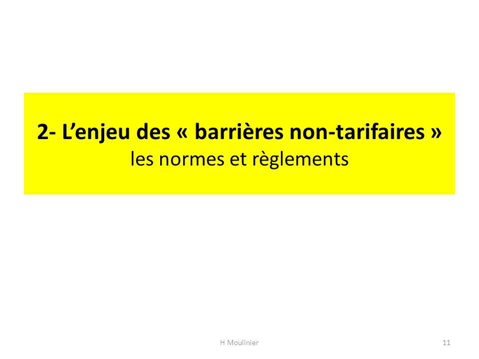 2- L'enjeu des « barrières non-tarifaires » les normes et règlements