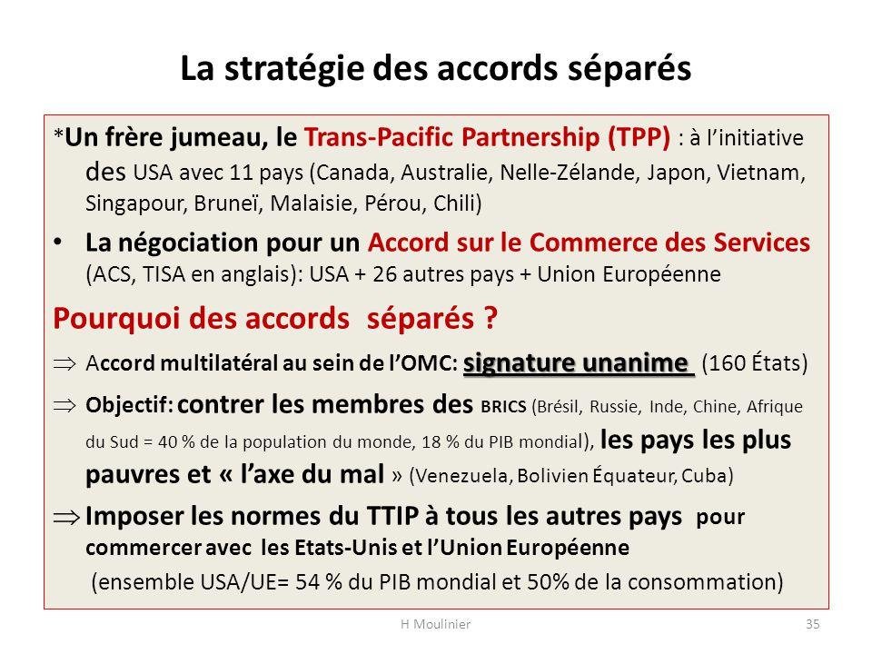 La stratégie des accords séparés