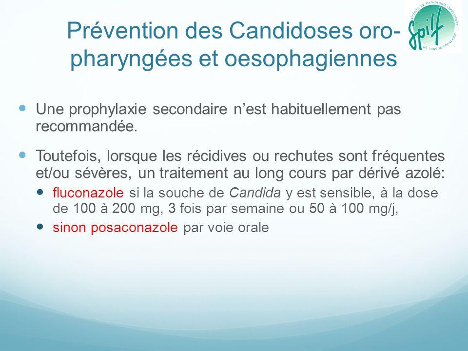 Prévention des Candidoses oro-pharyngées et oesophagiennes