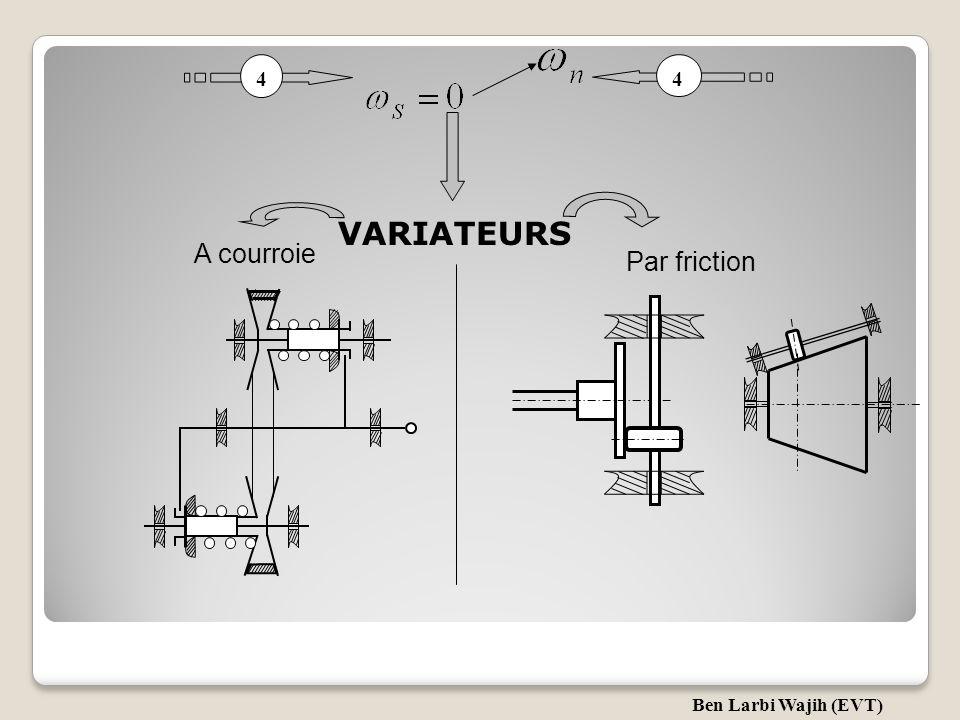 4 4 VARIATEURS A courroie Par friction Ben Larbi Wajih (EVT)