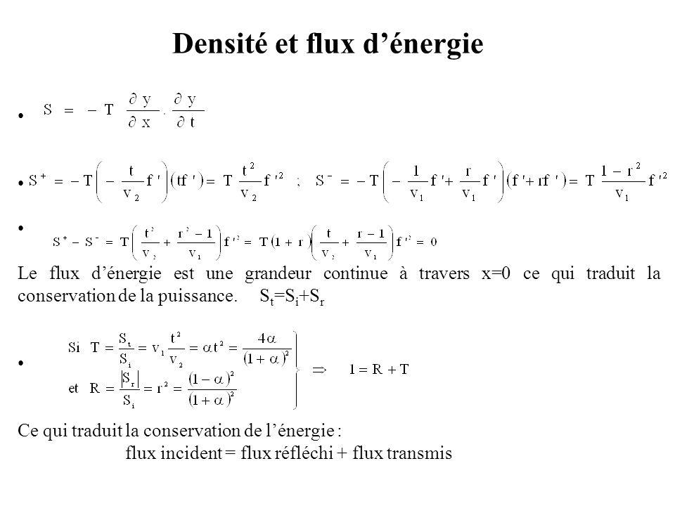 Densité et flux d'énergie