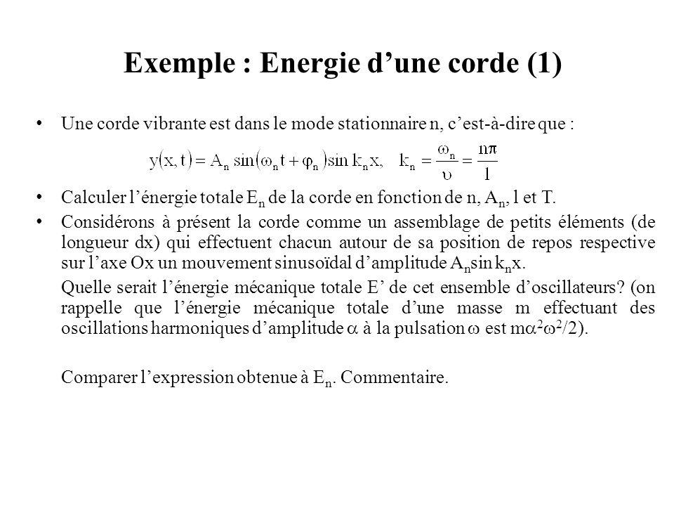 Exemple : Energie d'une corde (1)
