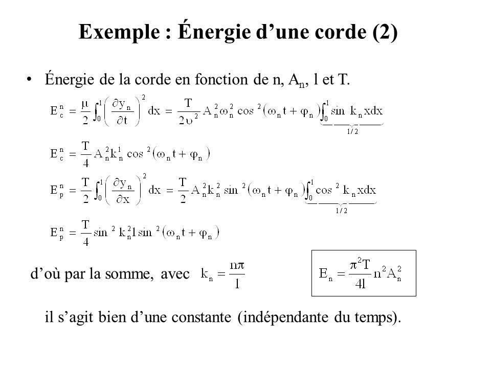 Exemple : Énergie d'une corde (2)