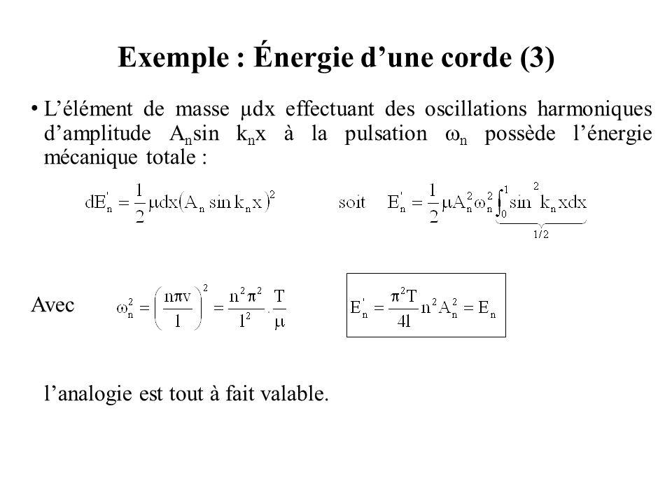 Exemple : Énergie d'une corde (3)
