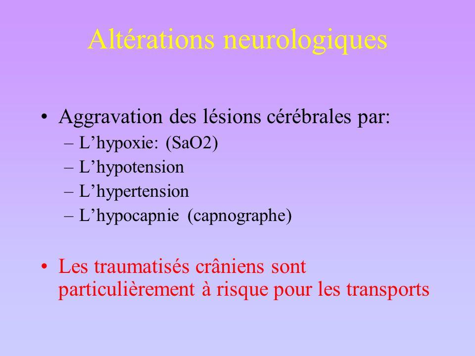 Altérations neurologiques