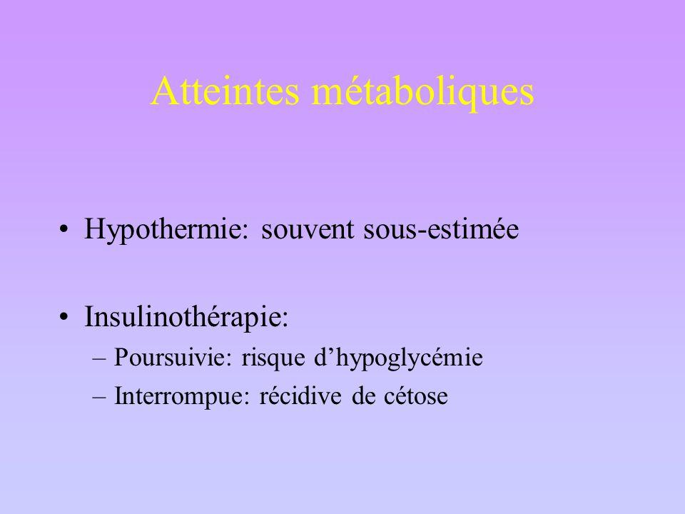 Atteintes métaboliques