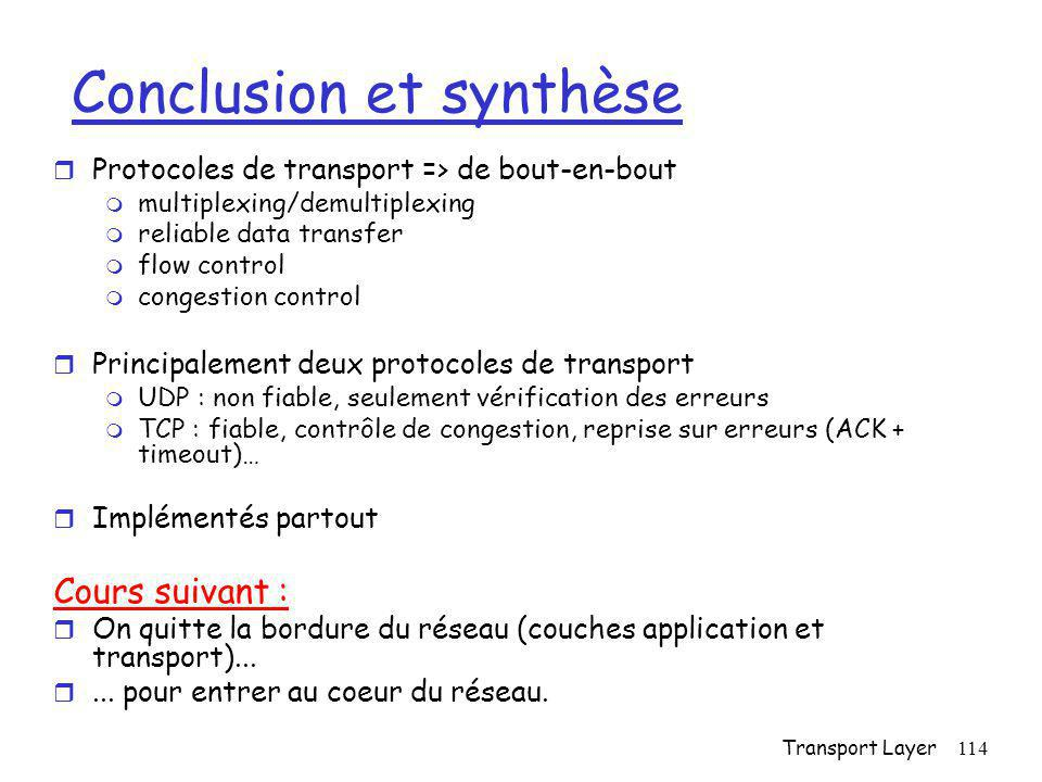 Conclusion et synthèse