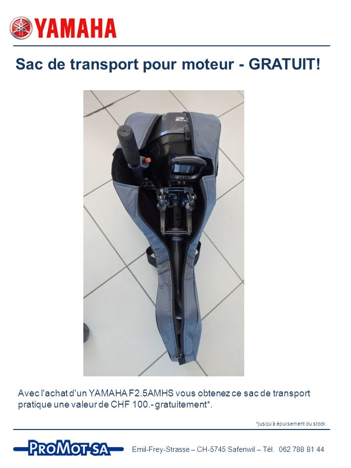 Sac de transport pour moteur - GRATUIT!