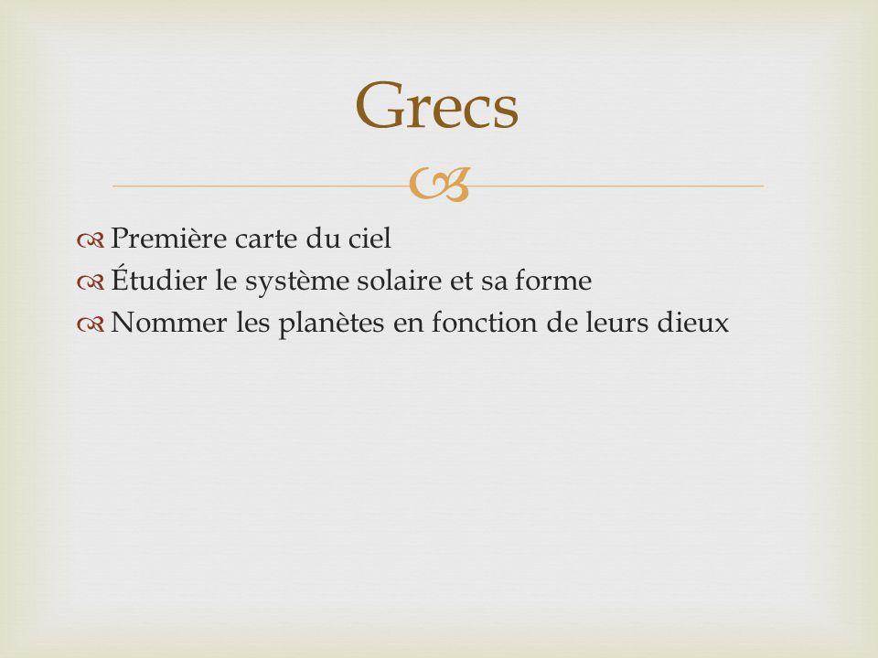 Grecs Première carte du ciel Étudier le système solaire et sa forme