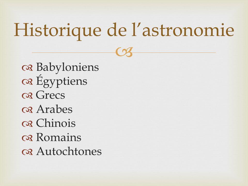 Historique de l'astronomie