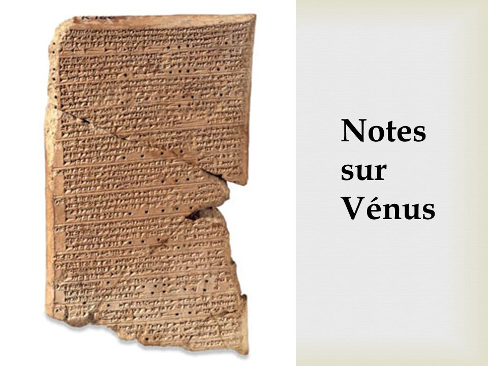 Notes sur Vénus