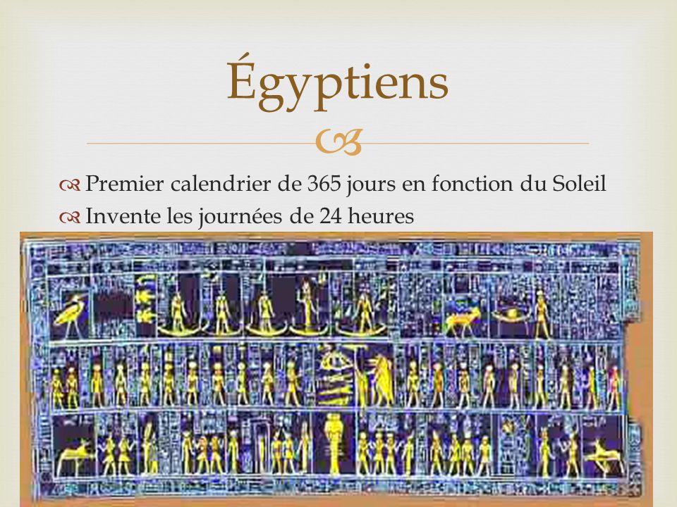 Égyptiens Premier calendrier de 365 jours en fonction du Soleil