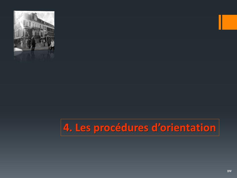 4. Les procédures d'orientation