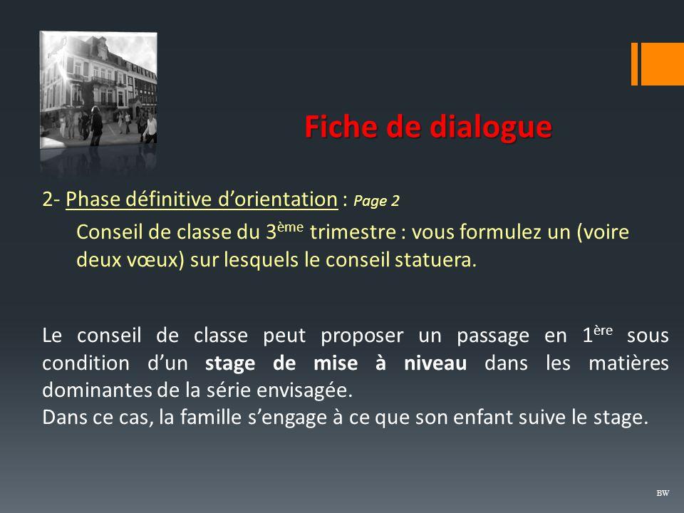 Fiche de dialogue 2- Phase définitive d'orientation : Page 2