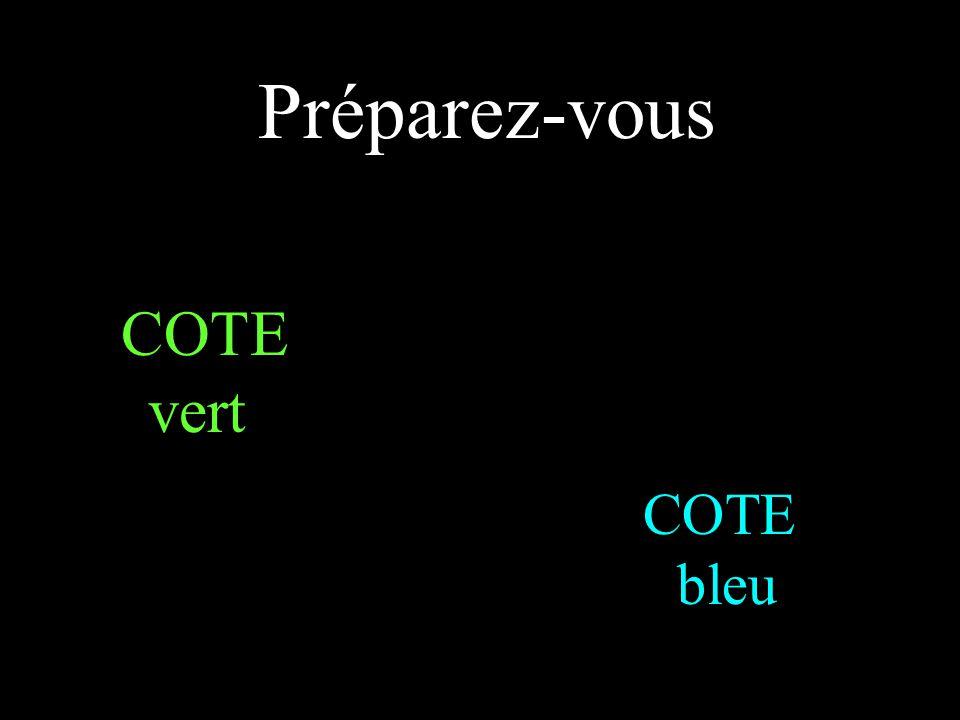 Préparez-vous COTE vert COTE bleu
