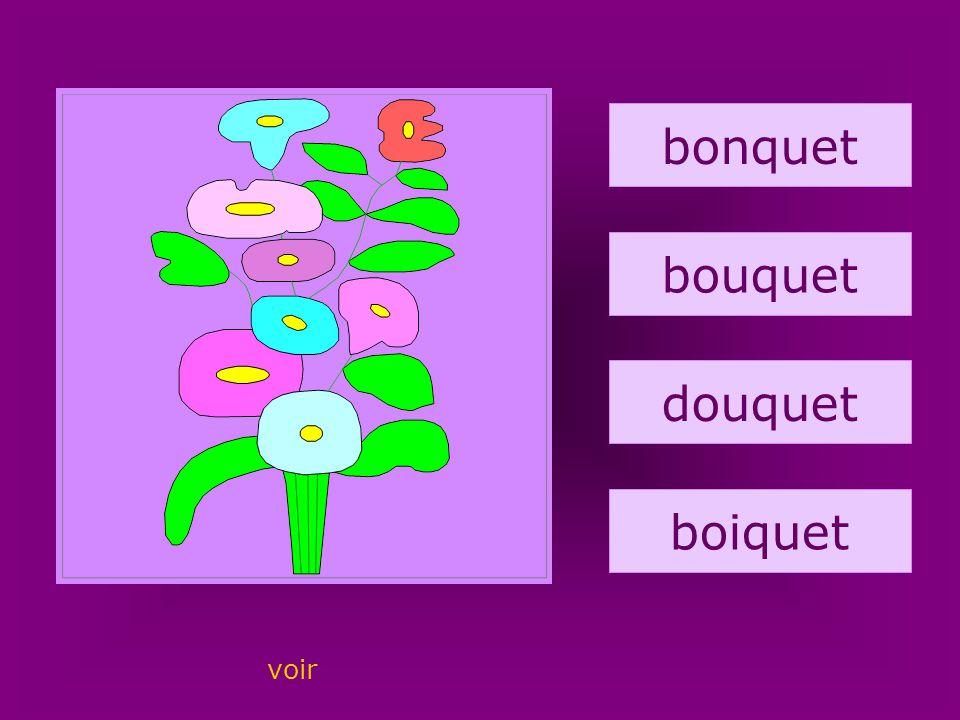12. bouquet bonquet bouquet douquet boiquet voir