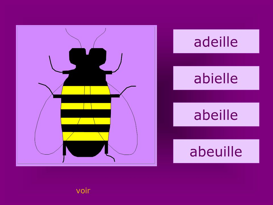 1. abeille adeille abielle abeille abeuille voir