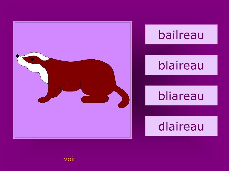 25. blaireau bailreau blaireau bliareau dlaireau voir