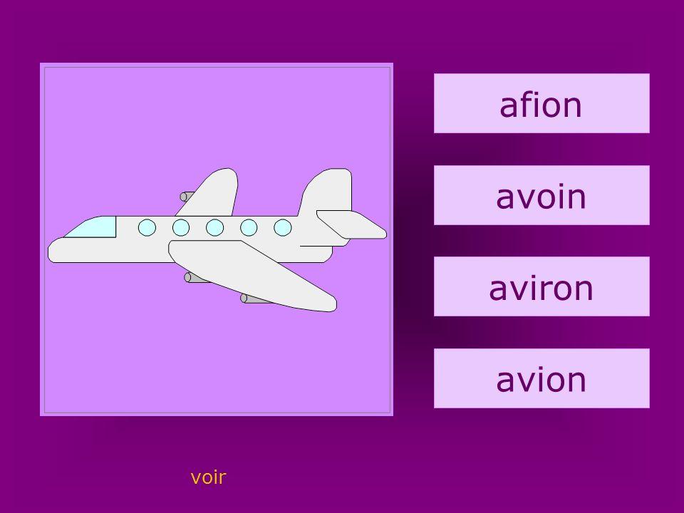 26. avion afion avoin aviron avion voir