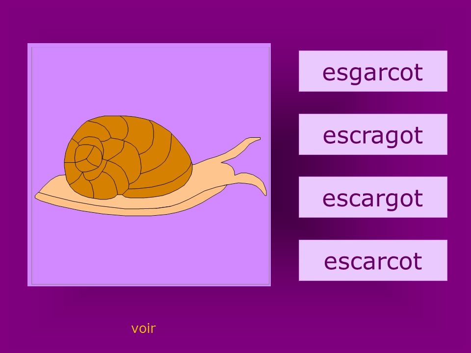 54. escargot esgarcot escragot escargot escarcot voir