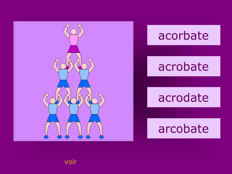 55. acrobate acorbate acrobate acrodate arcobate voir