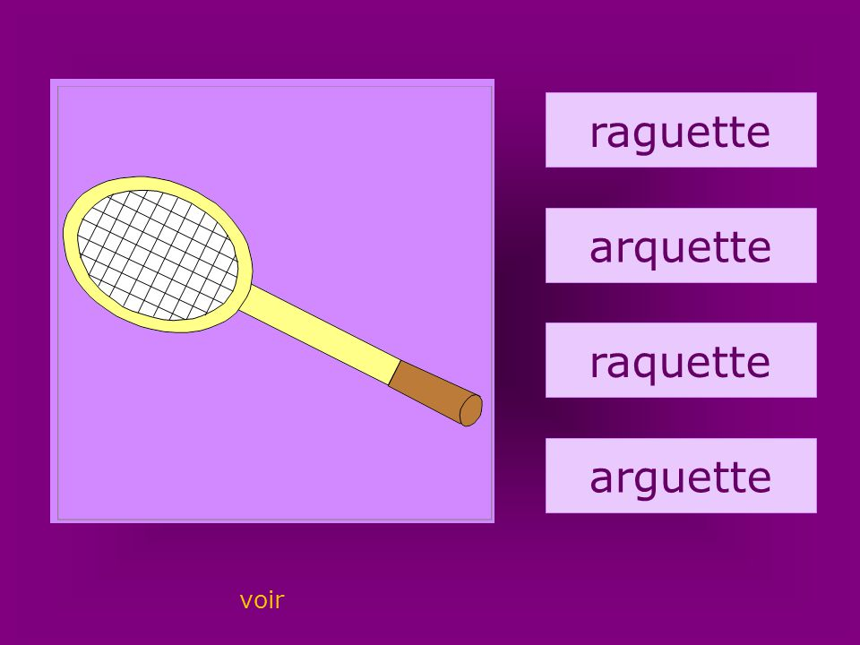 65. raquette raguette arquette raquette arguette voir