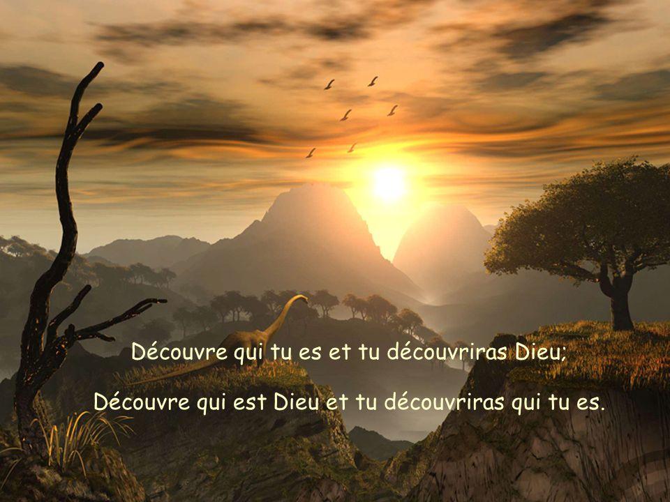 Découvre qui tu es et tu découvriras Dieu;