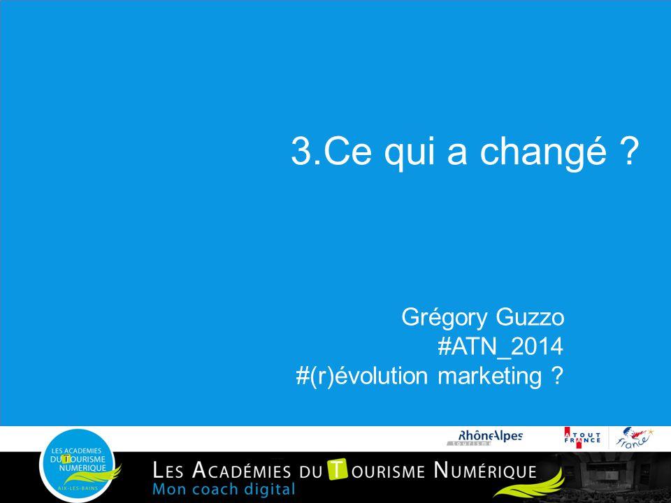 3.Ce qui a changé Grégory Guzzo #ATN_2014 #(r)évolution marketing
