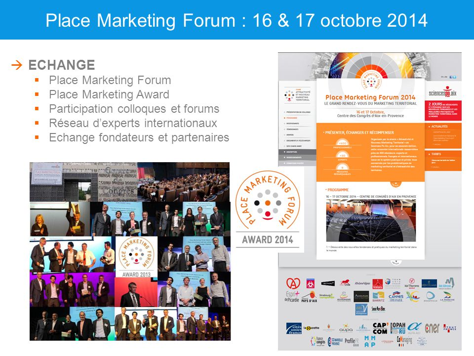 Place Marketing Forum : 16 & 17 octobre 2014