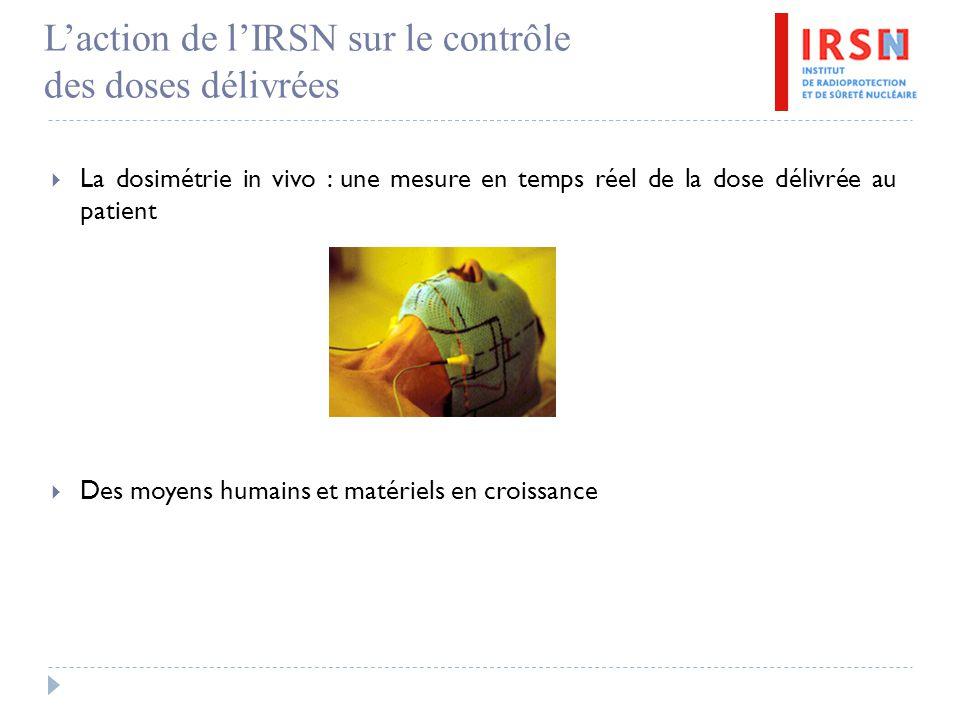 L'action de l'IRSN sur le contrôle des doses délivrées