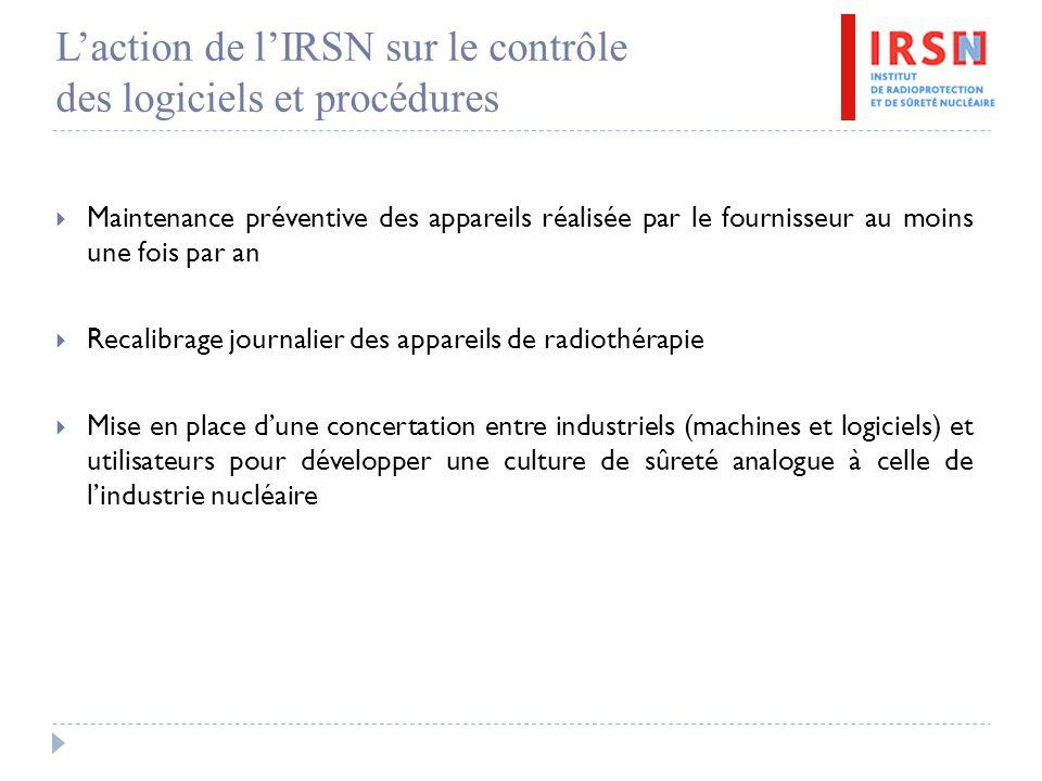 L'action de l'IRSN sur le contrôle des logiciels et procédures