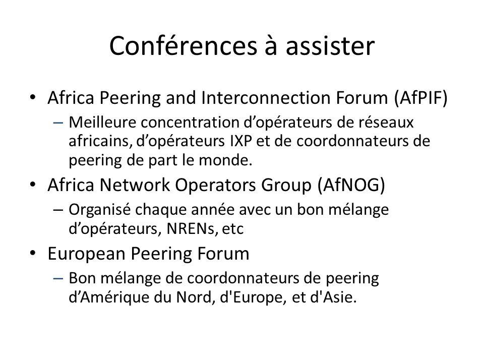 Conférences à assister