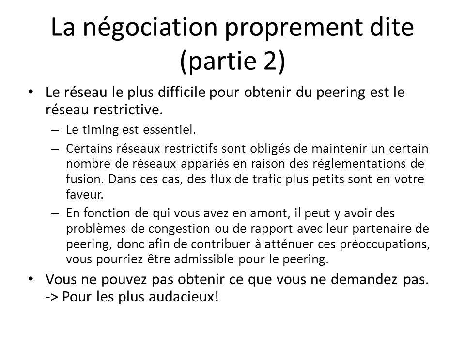 La négociation proprement dite (partie 2)