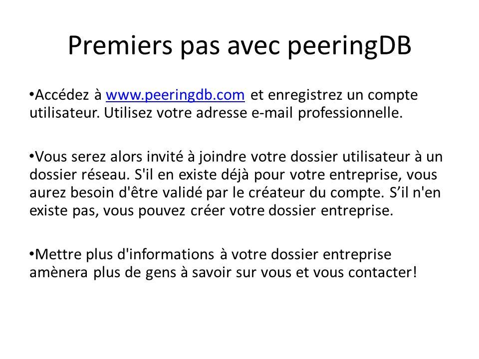 Premiers pas avec peeringDB