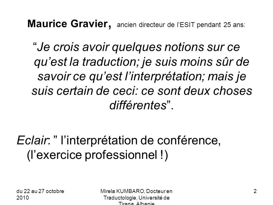 Maurice Gravier, ancien directeur de l'ESIT pendant 25 ans: