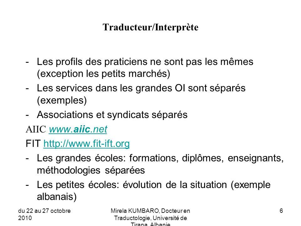 Traducteur/Interprète