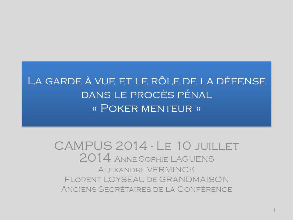 CAMPUS 2014 - Le 10 juillet 2014 Anne Sophie LAGUENS