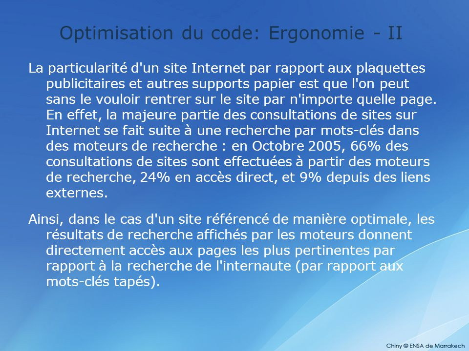 Optimisation du code: Ergonomie - II