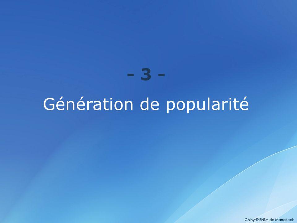 Génération de popularité