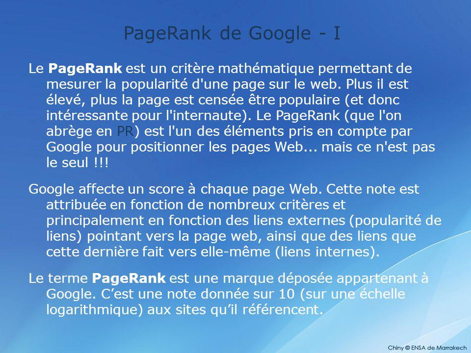 PageRank de Google - I